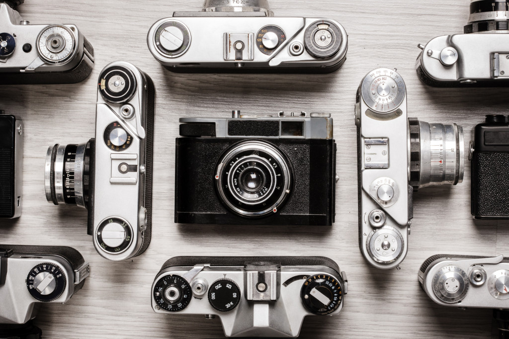 old camera, retro, photographic, technology
