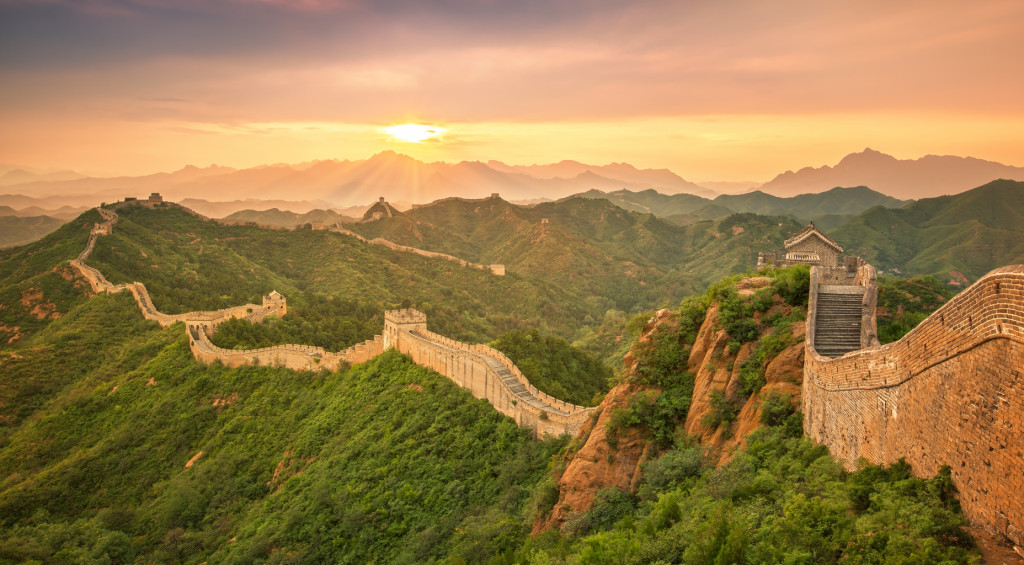 Great Wall of China at Sunrise